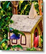 Birdhouse Church Metal Print