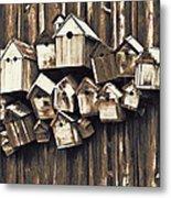 Birdhouse Condominium Metal Print