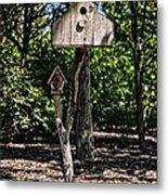 Birdhouses In The Trees Metal Print