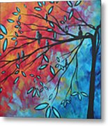 Birds And Blossoms By Madart Metal Print