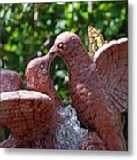 Birds And Butterfly Metal Print