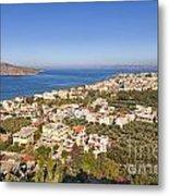 Birds Eye View Of Crete Greece Metal Print