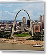 Bird's Eye View Of St.louis  Metal Print