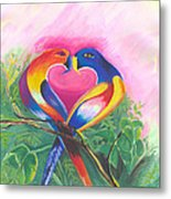 Birds In Love 02 Metal Print