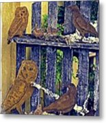 Birds Of A Feather Stay Together Metal Print