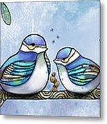 Birds Of Blue Metal Print