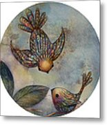 Birds Of Paradise Metal Print by Karin Taylor