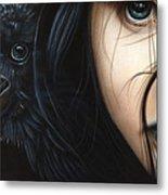 Birds Of Prey- Raven Metal Print