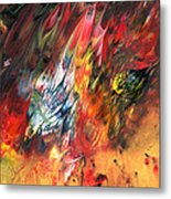 Birds On Fire Metal Print