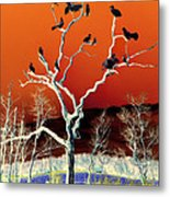 Birds On Tree Metal Print