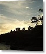 Birds Over Cliff Metal Print