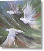 Birds Three Metal Print by Paula Marsh
