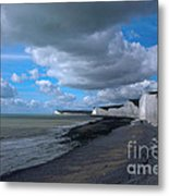 Birling Gap Beach Metal Print