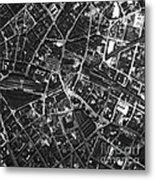 Birmingham, Historical Aerial Photograph Metal Print
