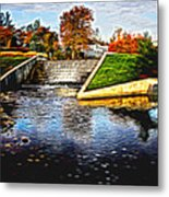 Birmingham Mi Waterfall Metal Print
