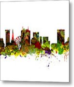 Birmingham Uk City Skyline Metal Print