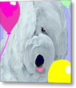 Birthday Balloons Metal Print