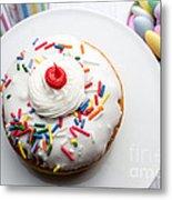 Birthday Party Donut Metal Print
