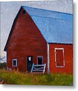 Bishop Barn Metal Print