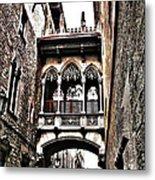 Bishop's Street - Barcelona Metal Print by Juergen Weiss