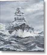 Bismarck Off Greenland Coast  Metal Print