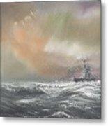 Bismarck Signals Prinz Eugen  Metal Print