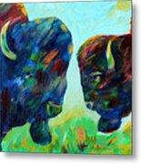 Bison Wisdom Metal Print