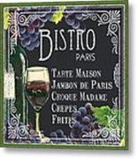 Bistro Paris Metal Print