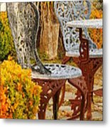 Bistro Table-color Metal Print