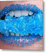Biting Into Blue Rock Candy  Metal Print