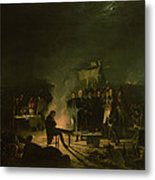 Bivouac Of Napoleon I 1769-1821 On The Battlefield Of The Battle Of Wagram, 5th-6th July 1809, 1810 Metal Print