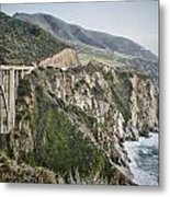 Bixby Bridge Vista Metal Print