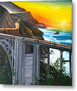 Bixby Coastal Bridge Of California At Sunset Metal Print