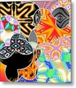 Bizzarro Colorful Psychedelic Floral Abstract Metal Print