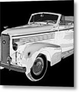 Black An White 1938 Cadillac Lasalle Pop Art Metal Print