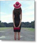 Black And Red Metal Print by Joana Kruse