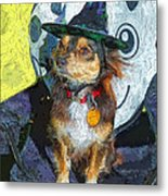 Black And Tan Chihuahua - Such A Good Little Witch Metal Print