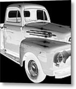Black And White 1951 Ford F-1 Pickup Truck  Metal Print