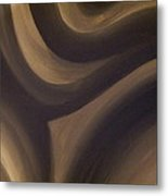 Black And White Abstract Metal Print