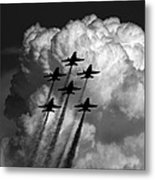 Black And White And Blue Angels Metal Print