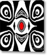 Abstract Black White Red Art No.213 Metal Print