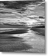 Black And White Beach Metal Print