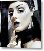 Black And White Beauty Metal Print