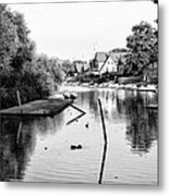 Black And White - Boathouse Row Metal Print
