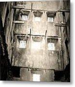 Black And White Bodmin Jail Metal Print