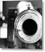 Black And White Cannon Metal Print