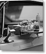 Black And White Carhop Metal Print