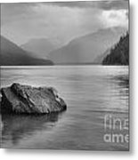 Black And White Cheakamus Lake Metal Print