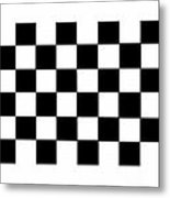 Black And White Checkered Flag Metal Print