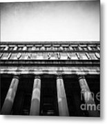 Black And White Chicago Union Station Metal Print